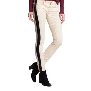 Free People Ivory Moto Pants Jeans